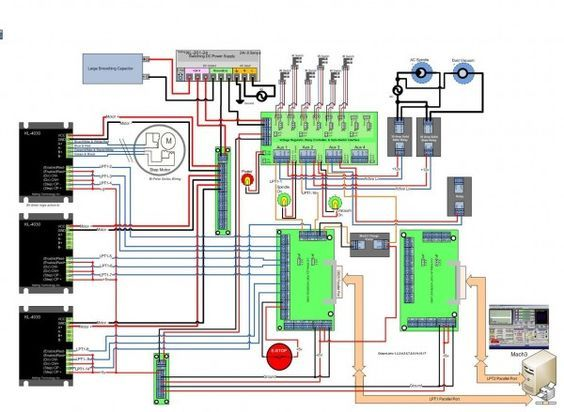 Cnc Wiring Cnc Machine Projects Cnc Controller Diy Cnc Router