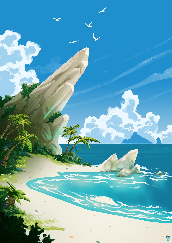 Peaceful Beach Game Art Art Sea Of Thieves