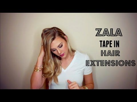 Zala Tape In Hair Extensions - YouTube