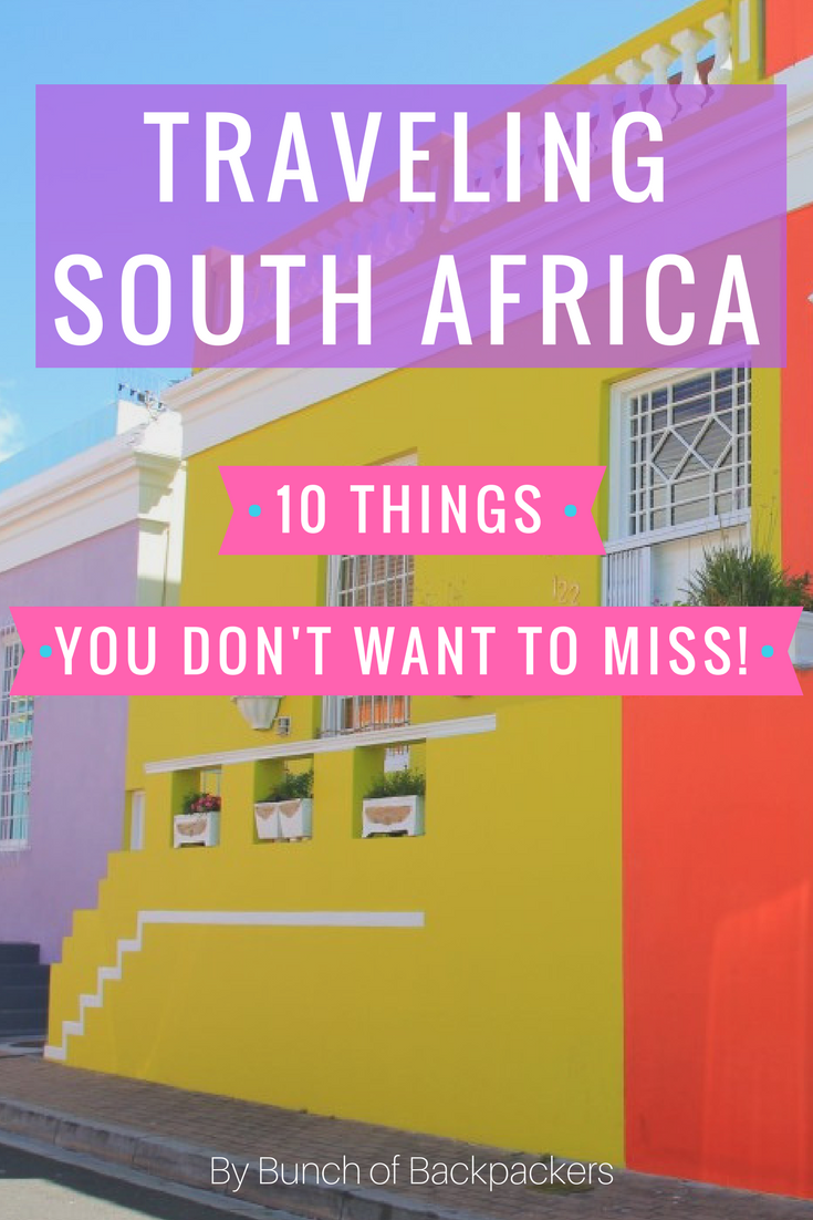 Backpacking South Africa 10 things you don't want to miss! is part of Backpacking South Africa  Things You Dont Want To Miss - Backpacking South Africa These are 10 things you don't want to miss during your trip to South Africa  From spotting the 'Big Five' and drink traditional beer to surfing and partying around Capetown!