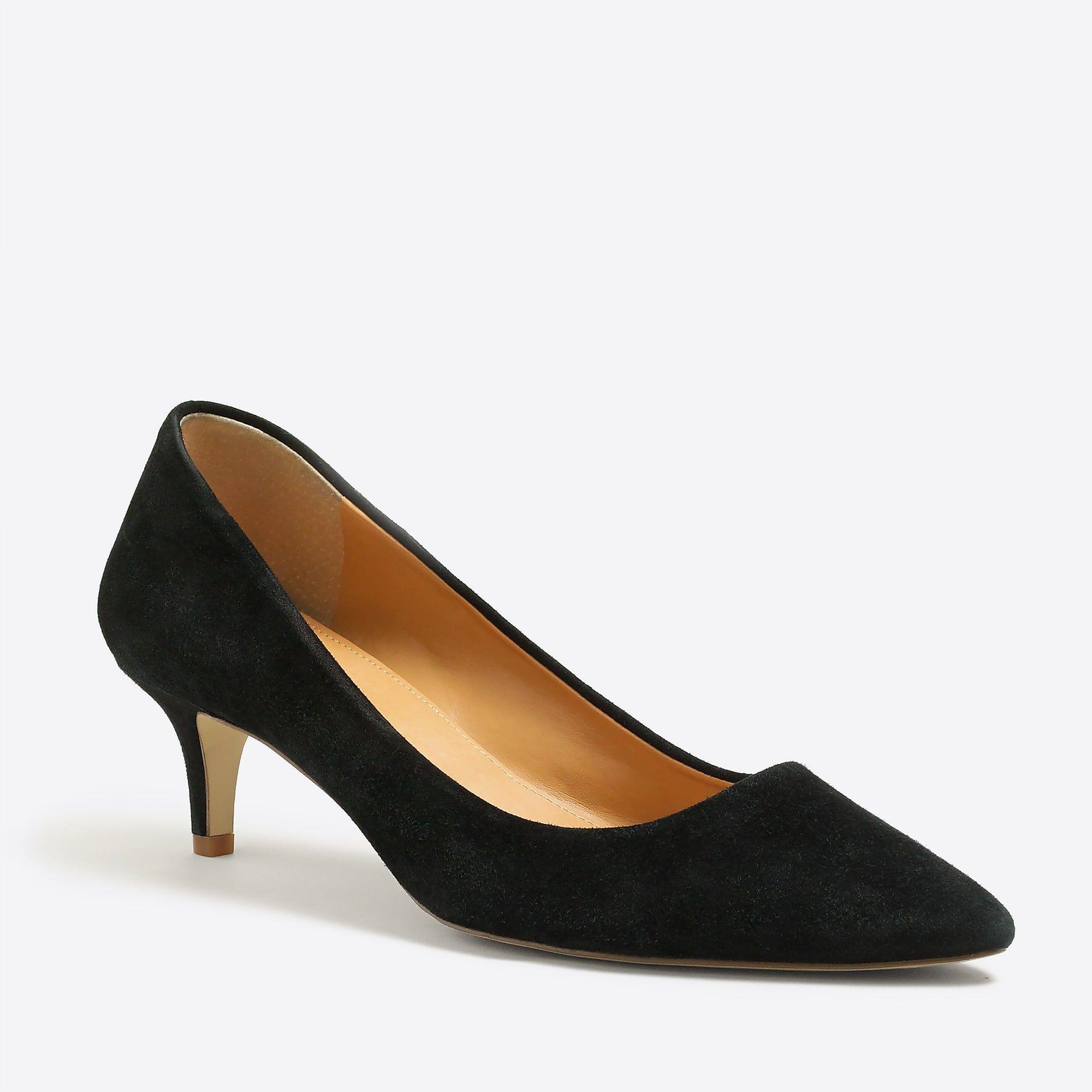Esme Suede Kitten Heels For Women Black Kitten Heels Kitten Heel Pumps Heels