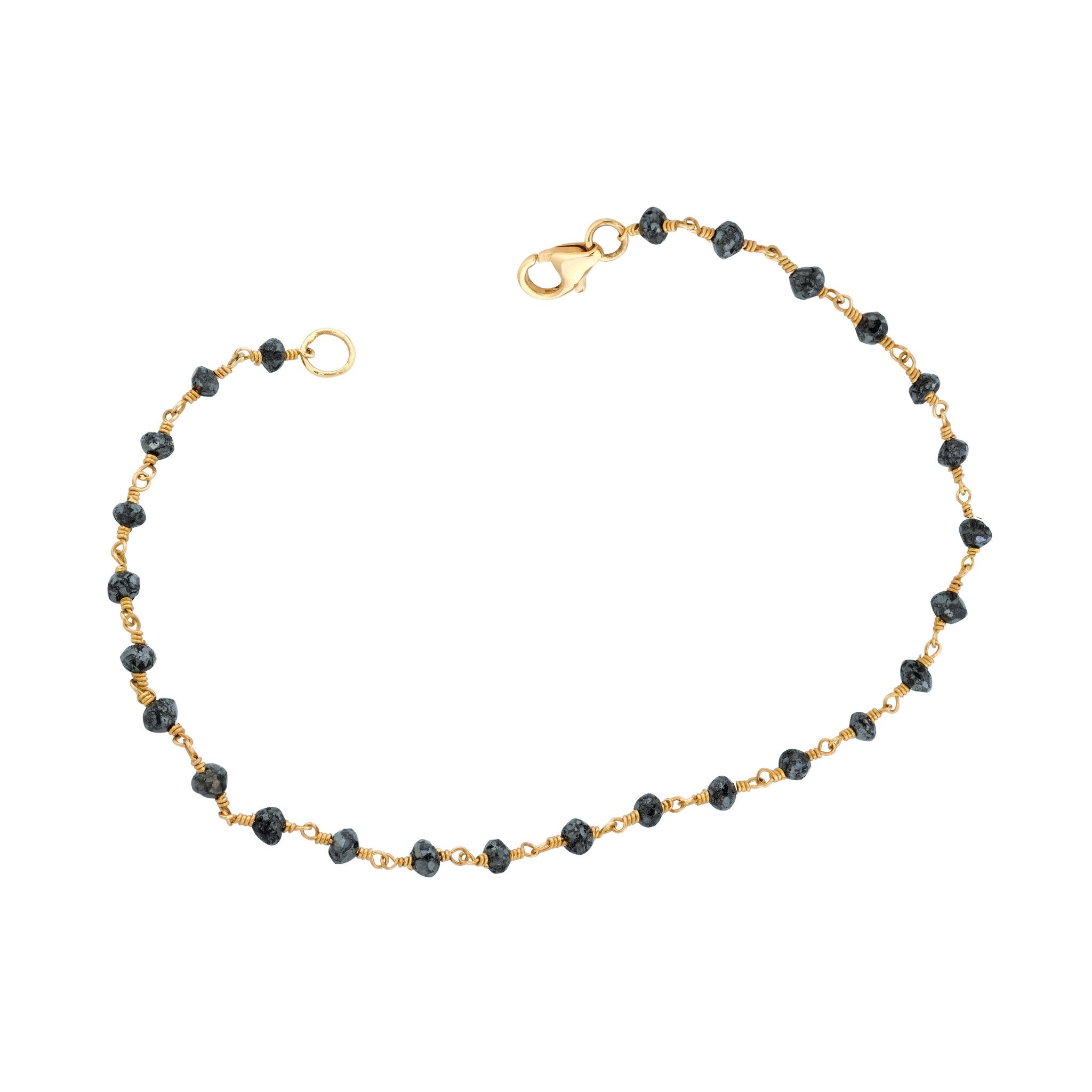 Hand wrapped black diamonds bracelet ariana rabbani ja summer