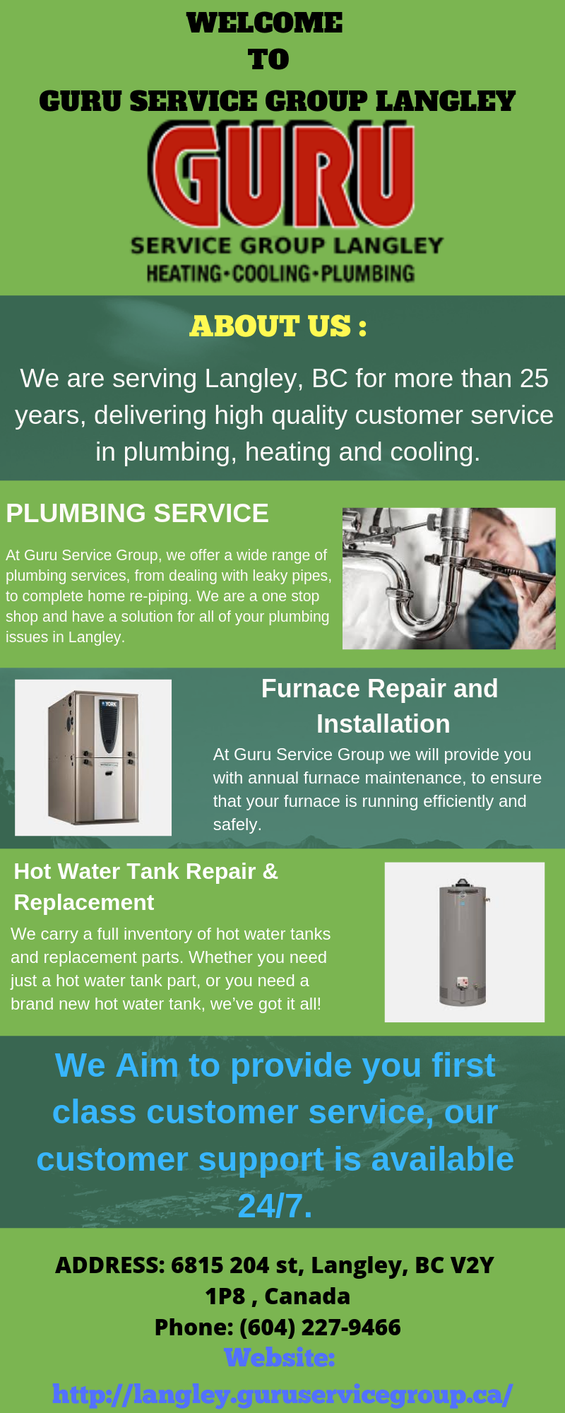 Is Your Furnace Is Not Working Properly And You Are Seeking Someone For Help Contact Guru Service Group Langley As We Provide Th Heat Pump Installation Commercial Plumbing Plumbing