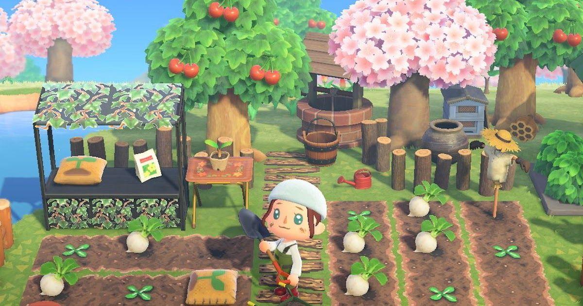 Animal Crossing New Horizons Garden Design Ideas
