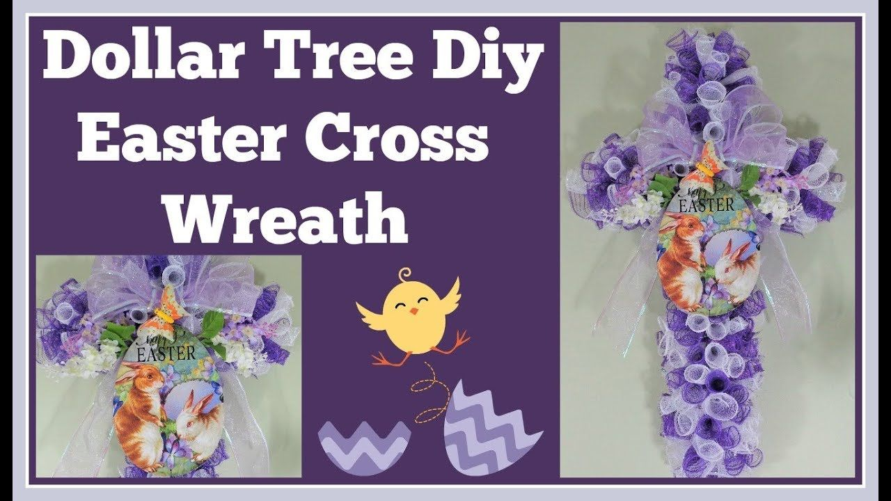 Dollar Tree DIY Cross Wreath for Easter 🌸 Easy and Fun