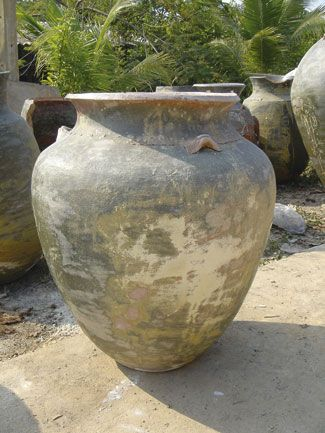Thai Limestone White Modern Burma Jar Martin Kellock Pots And Planters Rustic Pots Ceramic Pots Large Terracotta Pots