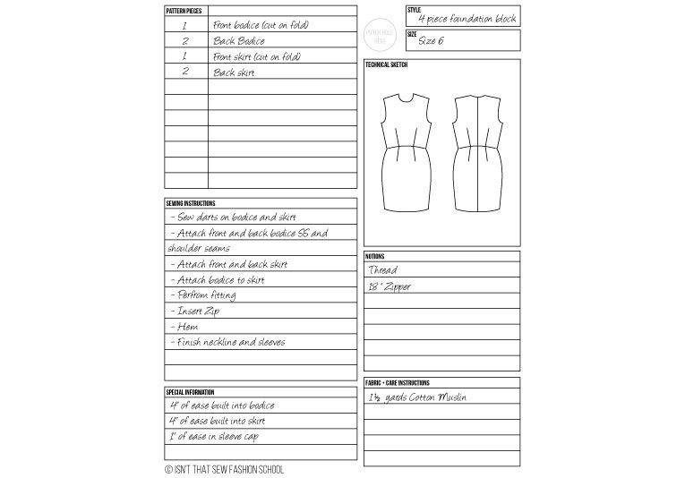Pattern Card Card Patterns Sewing Pattern Design Dressmaking