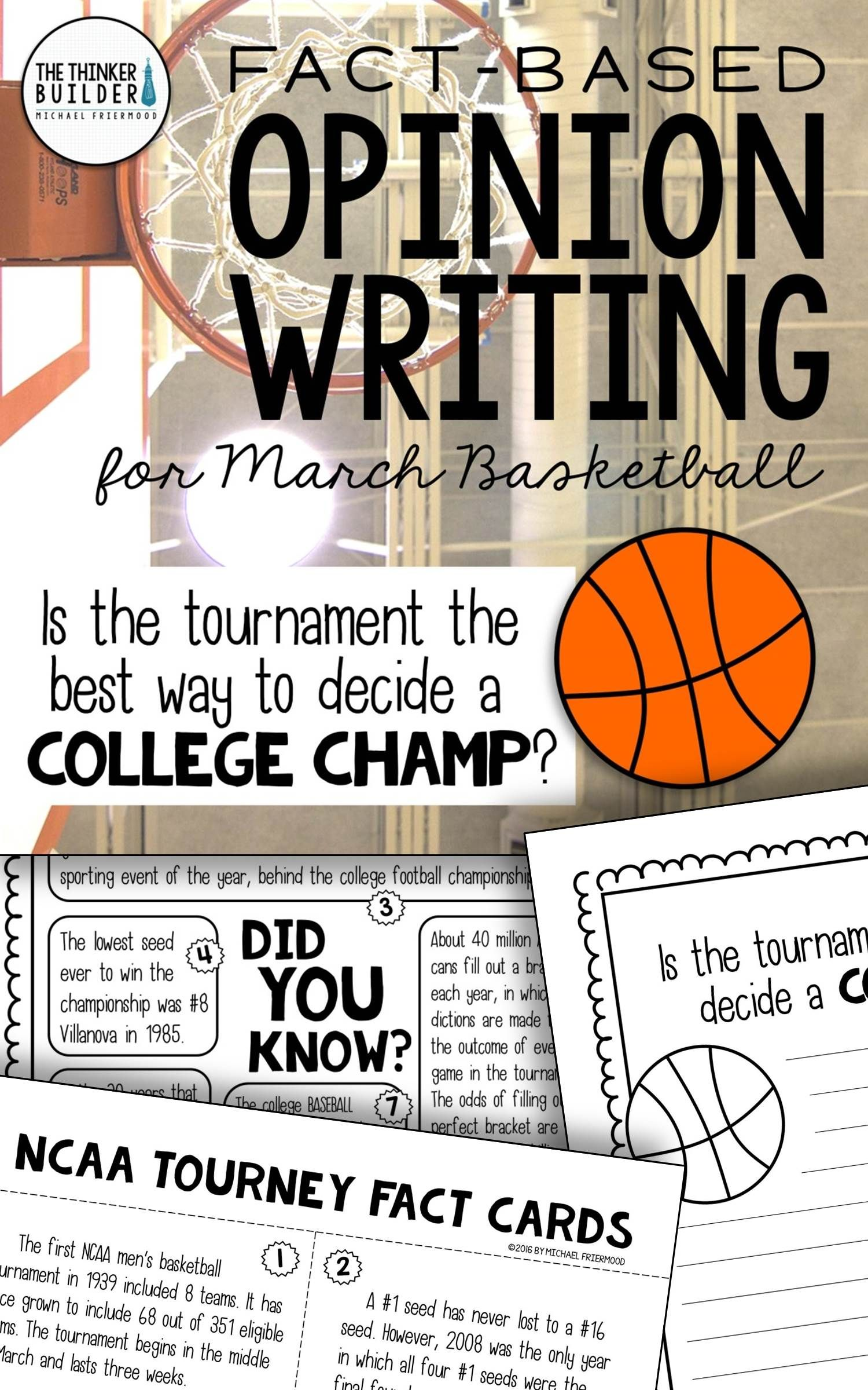 Fact Based Opinion Writing For March Basketball