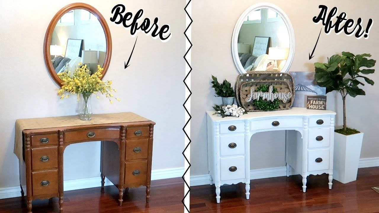 CHALK PAINTING FURNITURE TUTORIAL FARMHOUSE STYLE