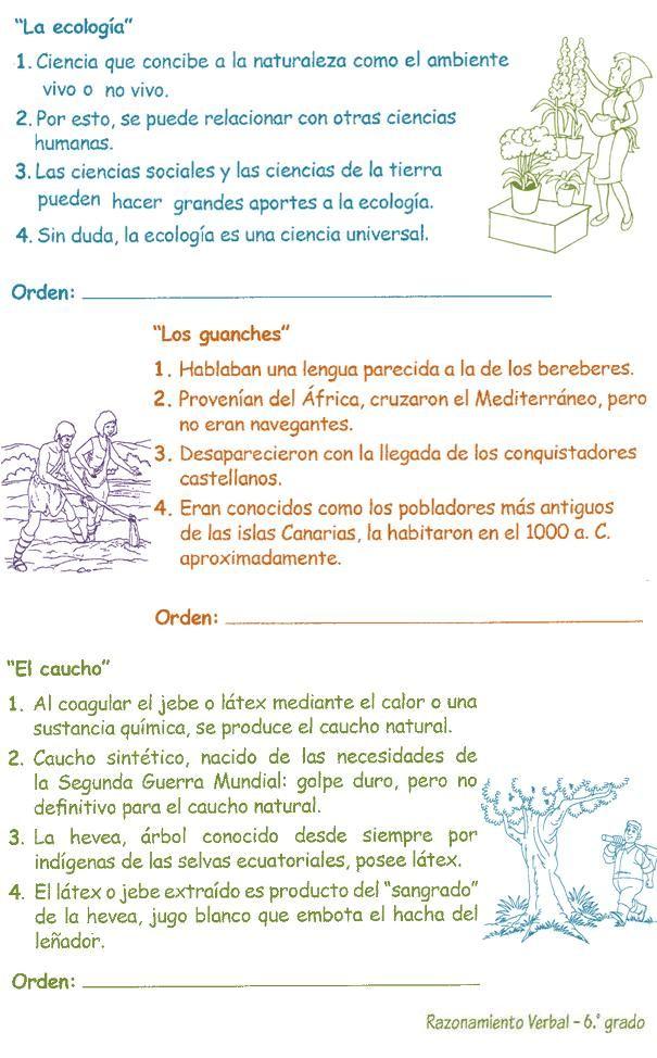 Razonamiento Verbal 6º Grado Primaria Plan De Redacción El Objetivo Del Plan De Redacción Razonamiento Verbal Ciencias De La Tierra Estrategias De Escritura