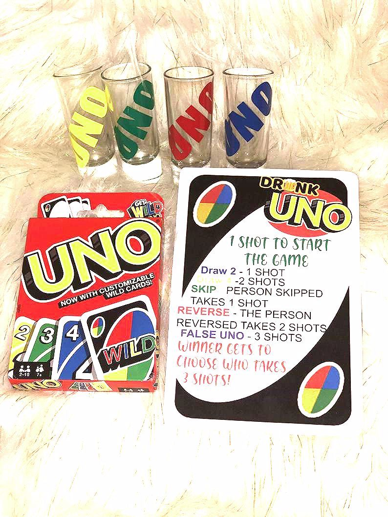 Photo of Drunk UNO Set, Adult games, game night, fun games, party night
