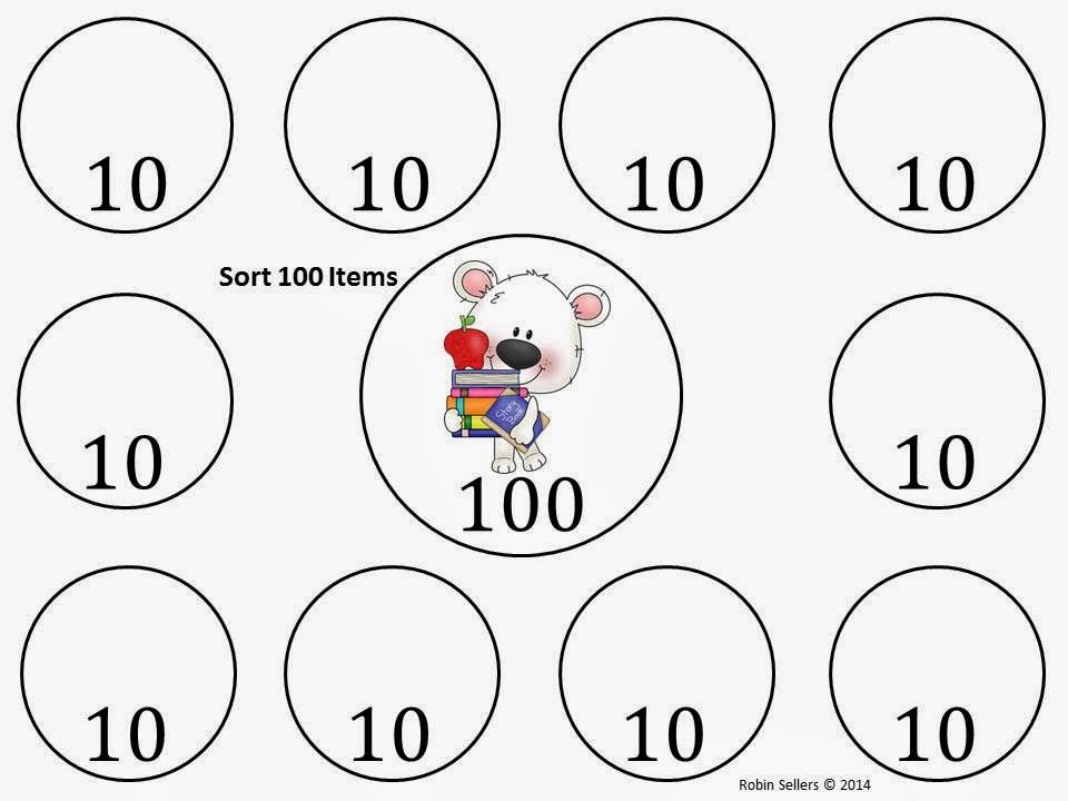 100th Day Sorting Mat Use Polar Bears Instead Of
