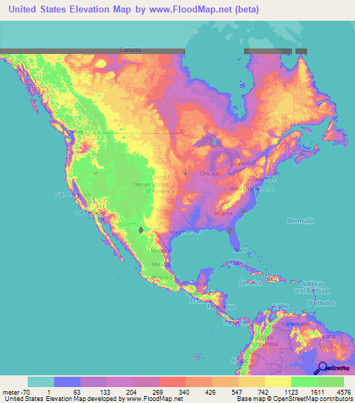 us elevation and elevation maps of cities topographic map contour in 2020 elevation map topographic map flood map pinterest