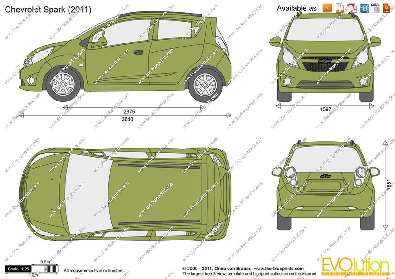 Chevrolet spark 2011 blueprint database pinterest planos chevrolet spark 2011 malvernweather Choice Image