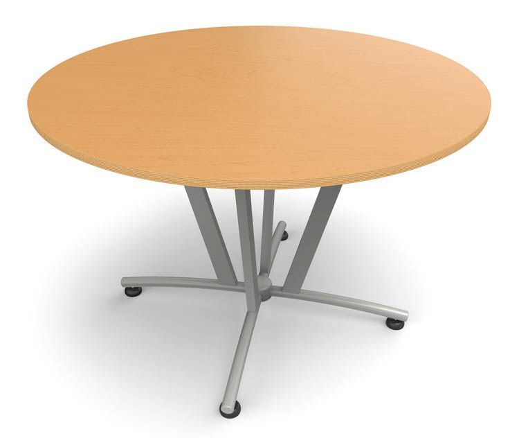 Round Conference Table Honey Gray Frame By Office Source - Office source conference table