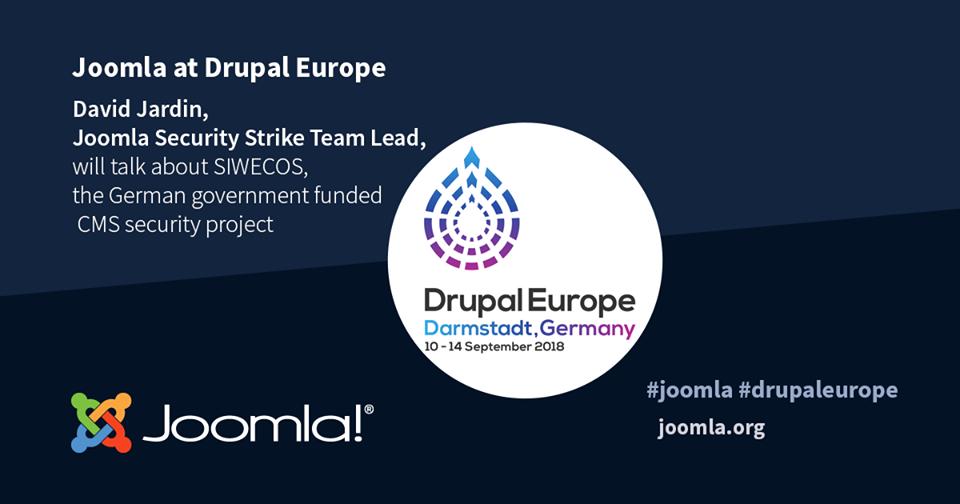 Joomla will attend the biggest European Drupal event