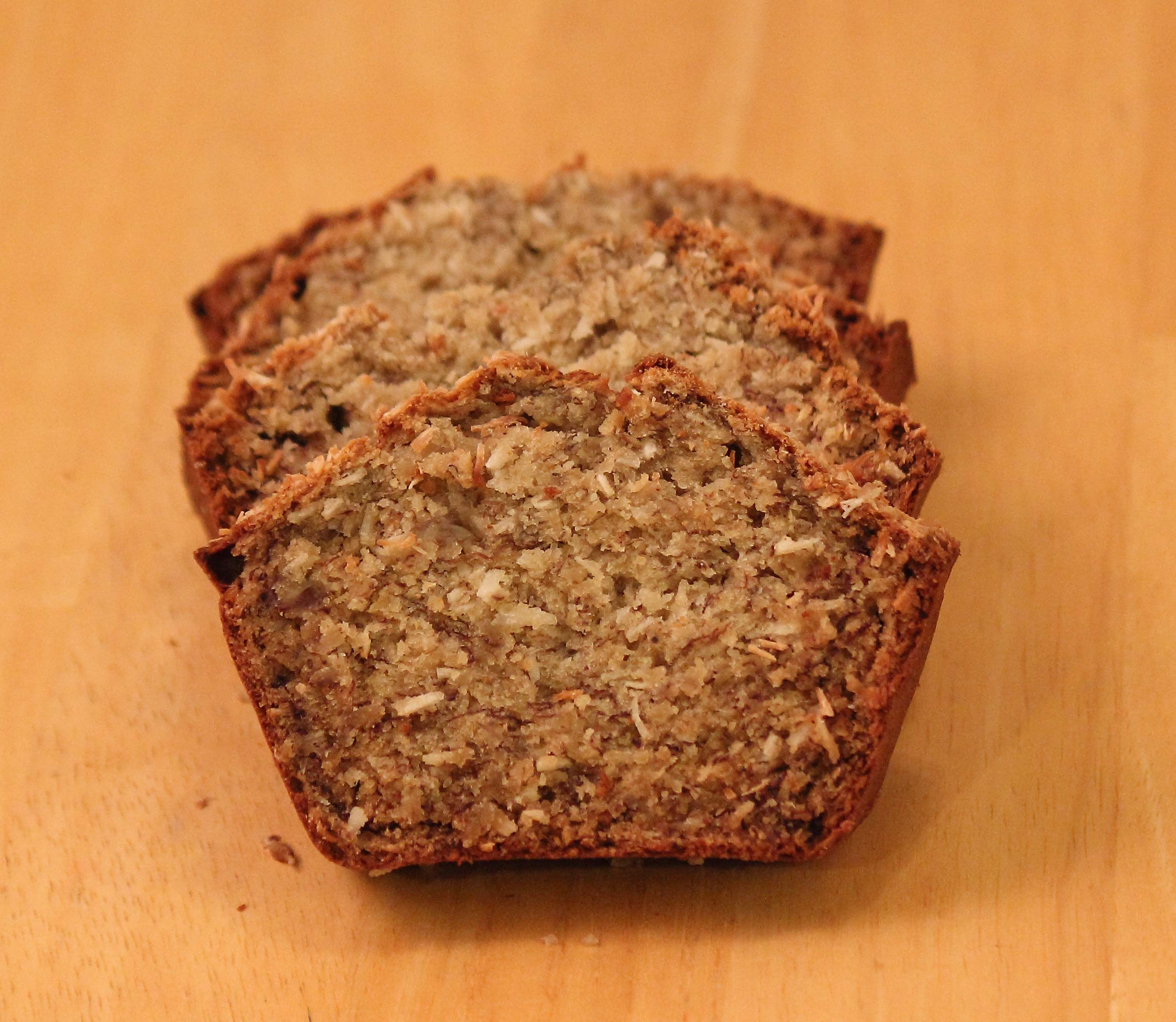 Healthy Coconut Banana Bread. This bread is moist and