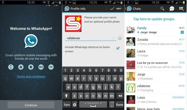 WhatsApp v5.70D Cracked [No root] Mobile messaging
