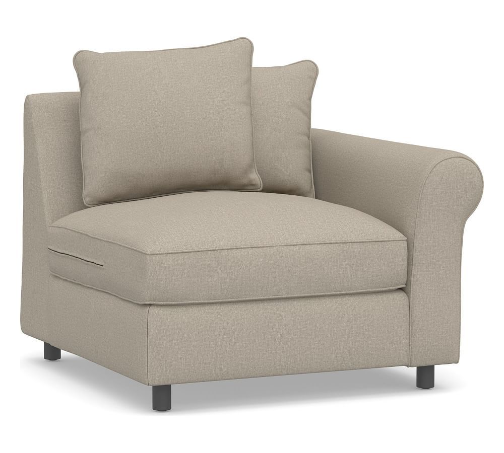 Build Your Own Pb Comfort Roll Arm Upholstered Sectional