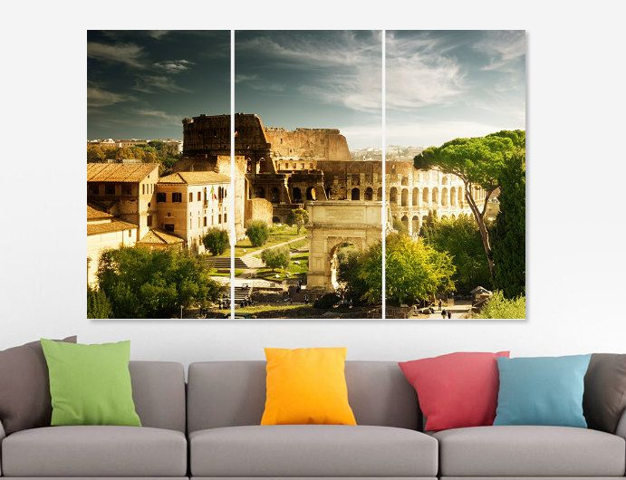 Colosseum Canvas Print Italy Colosseum Canvas Set Italy Canvas Art ...