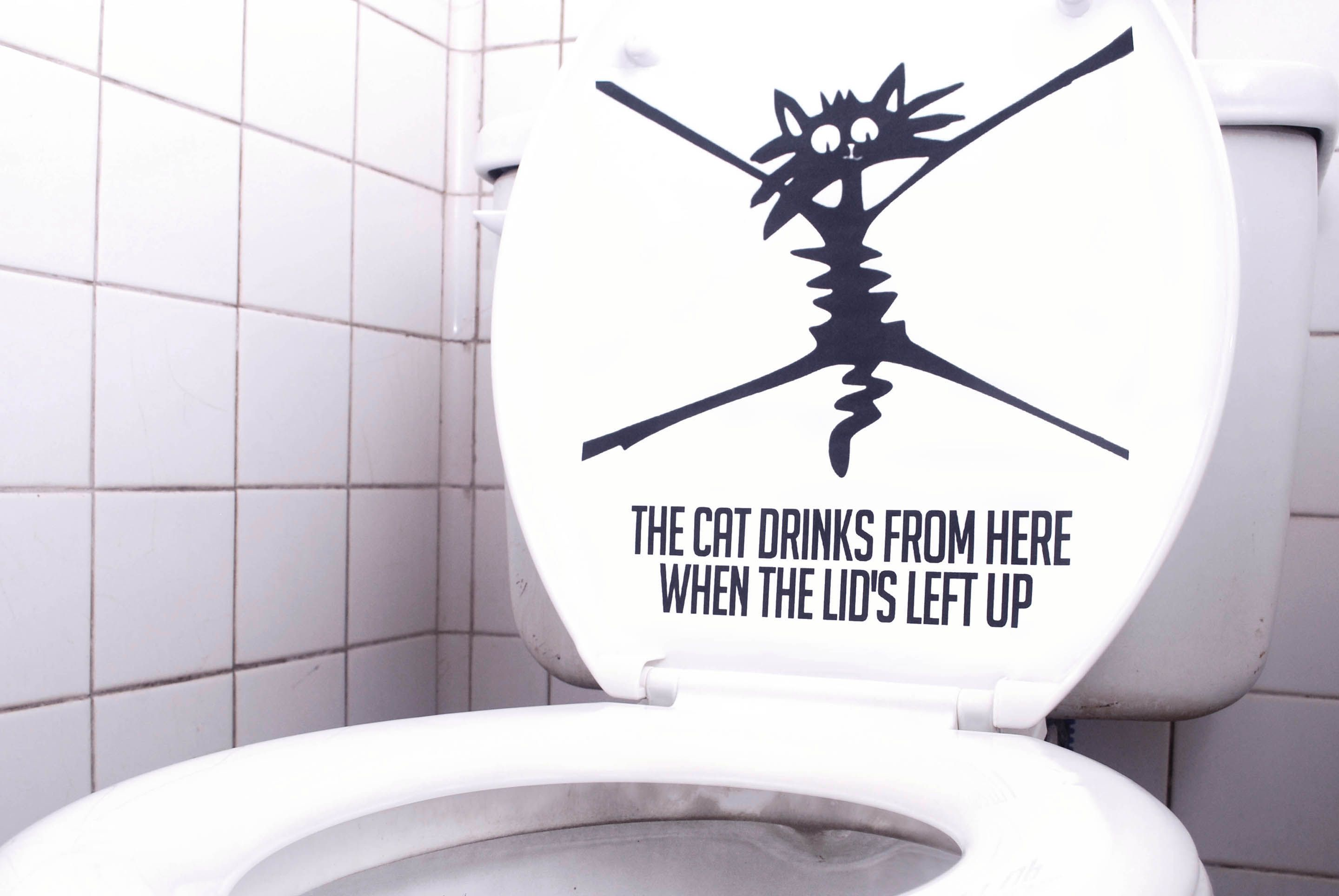 Stickers Para Baños Make Your Own Quotput Toilet Seat Down Quot Sticker Stick