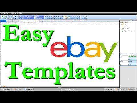 How To Make Free Ebay Templates Html Step By Step Editing Tutorial Youtube Ebay Templates Templates Editing Tutorials