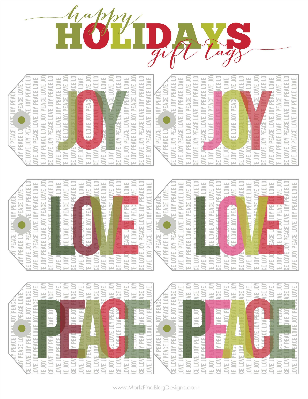 Christmas Amp Holiday Free Printable T Tags