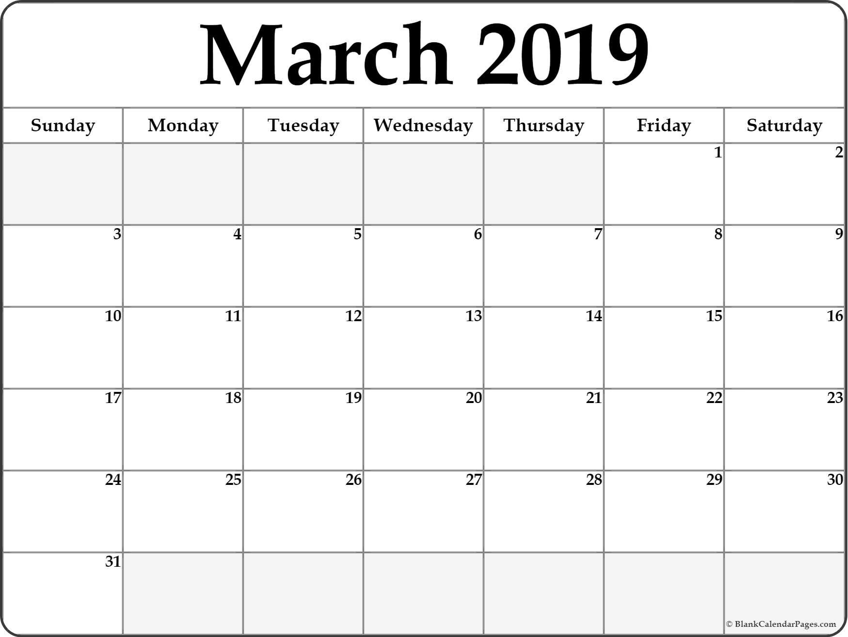 March 2021 Calendar In Pdf Word Excel Printable Template Blank