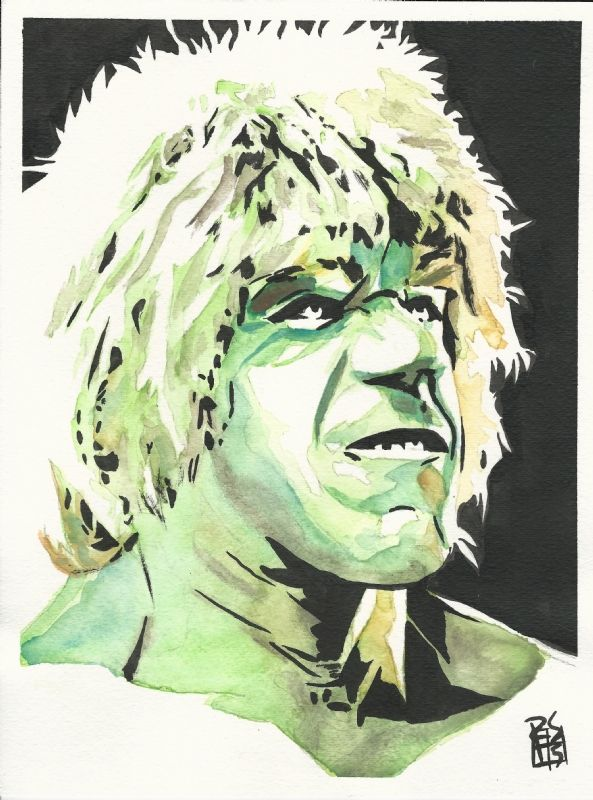 #Hulk #Fan #Art. (Lou Ferrigno as the Incredible Hulk) By: Rob Schamberger. ÅWESOMENESS!!!™ ÅÅÅ+