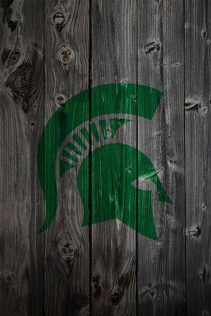 Michigan State Spartans Alternate Logo Wood Iphone 4 Background Michigan State Football Michigan State Spartans Michigan State