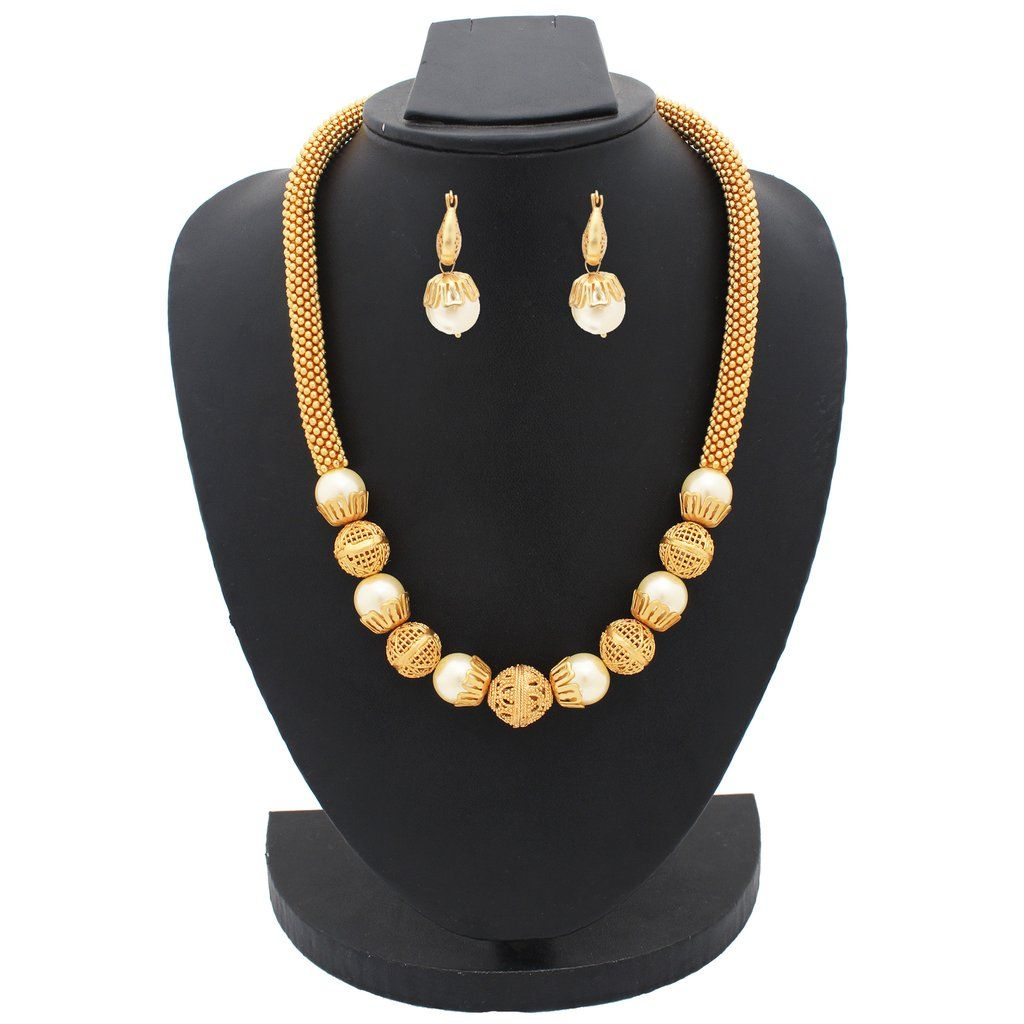 Designer antique necklace set aqnck indian jewelry