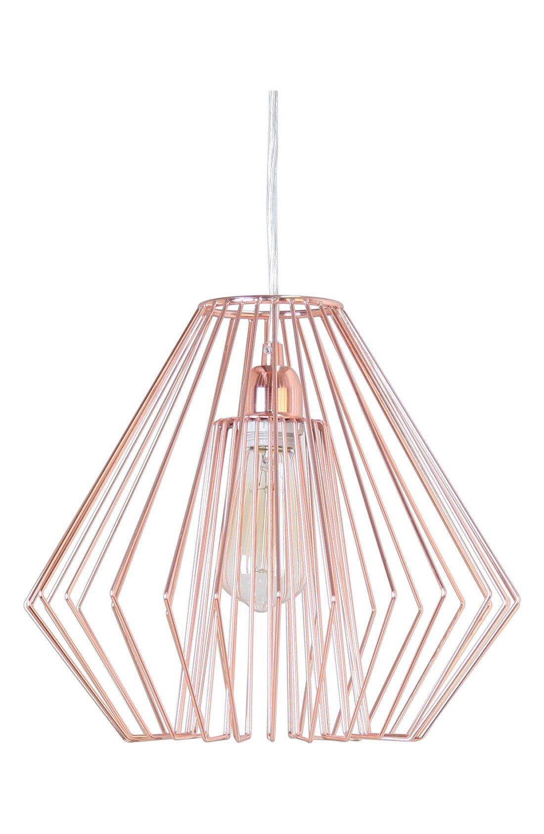 Crystal Art Gallery Metallic Hanging Lamp Rose Gold Lamp