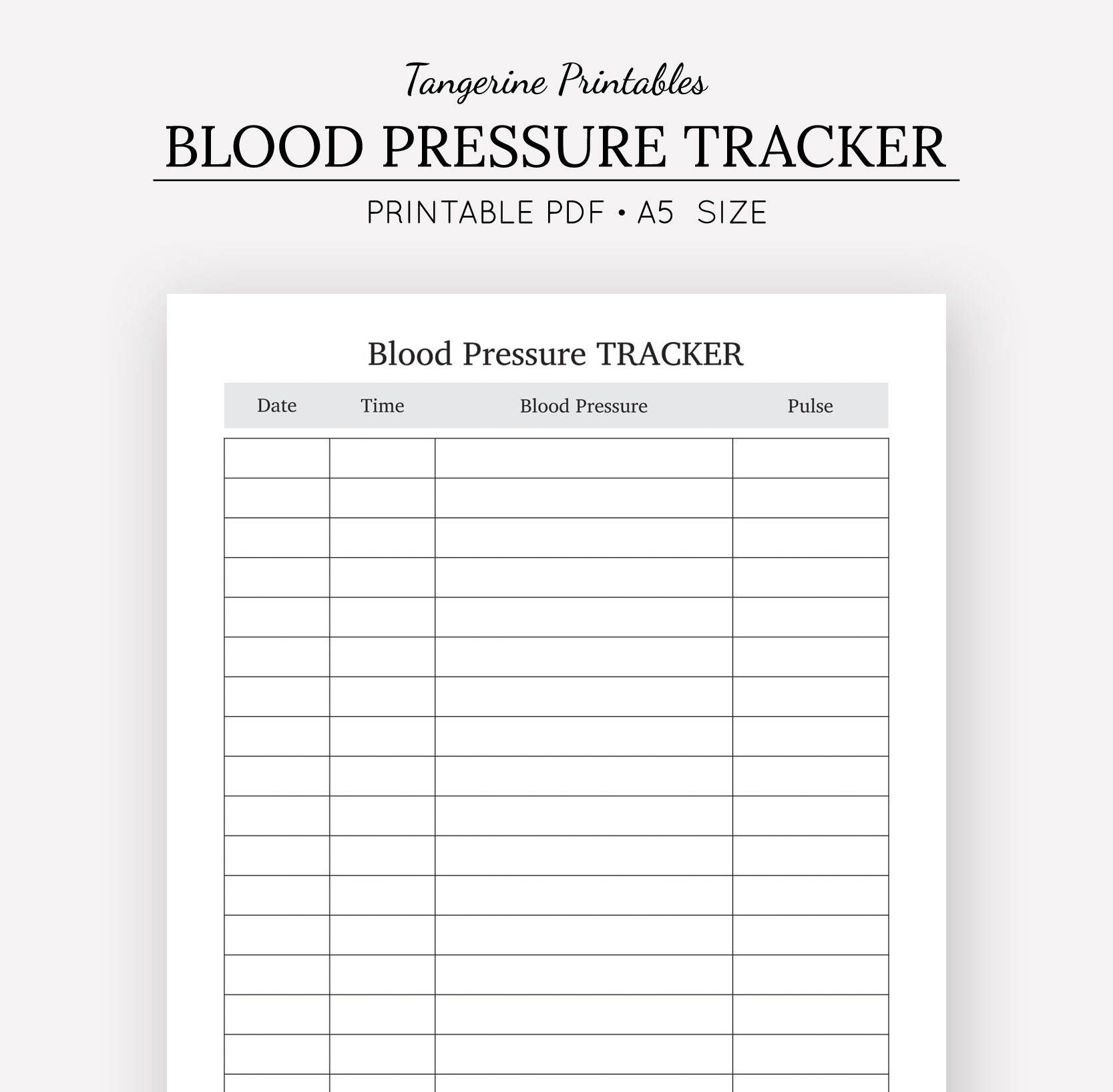 photograph regarding Blood Pressure Log Printable identify Blood Anxiety Tracker Fitness Magazine A5 A4 US Letter