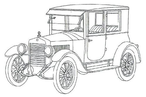 Classic car coloring pages Essex Coach  COLORING PAGES