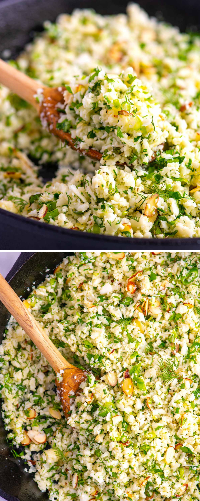 Garlic Herb Cauliflower Rice #ricedcauliflower