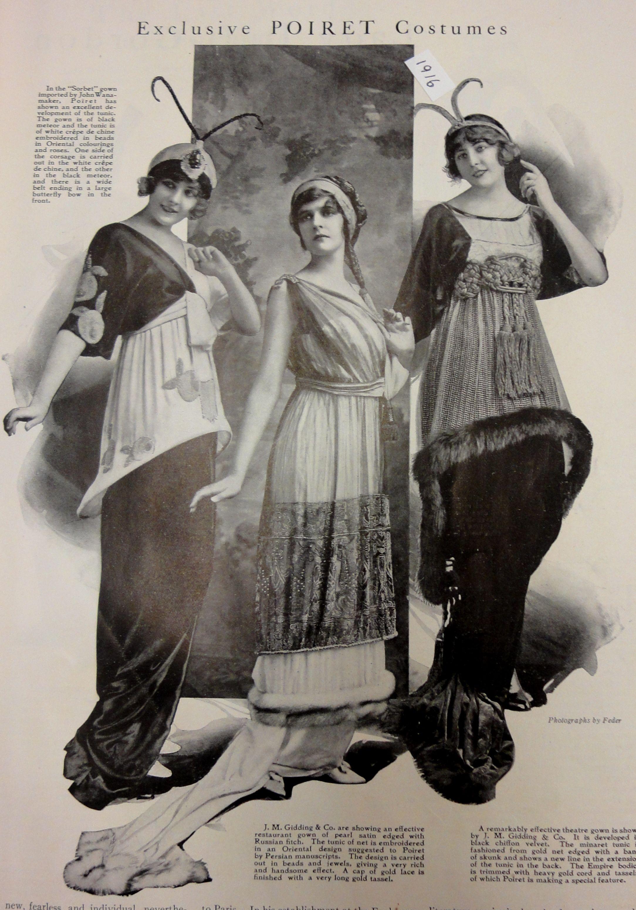 Pin By Jmagana On 1910s Fashion Paul Poiret Edwardian Fashion Art Deco Fashion