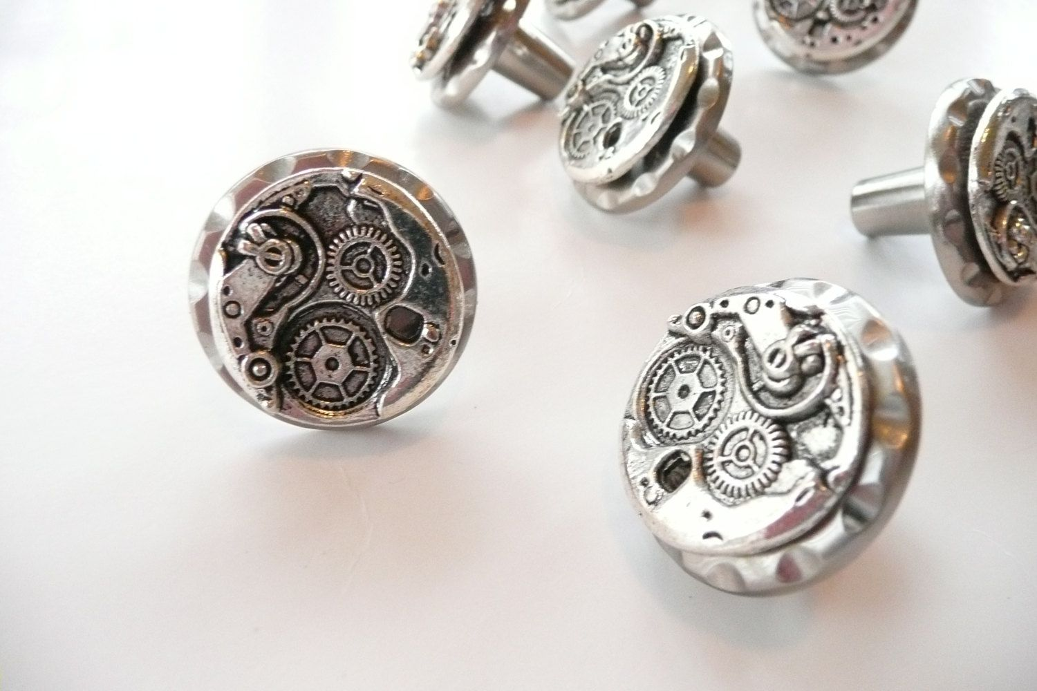 Https://www.etsy.com/listing/121946996/steampunk Watch Movement Cabinet  Knobs
