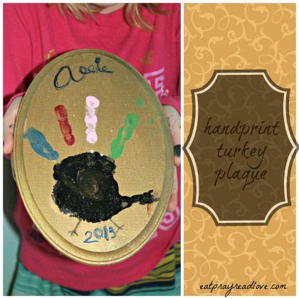 turkey handprint craft Thanksgiving craft