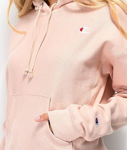 Champion Reverse Weave Almond Pink Hoodie | Zumiez