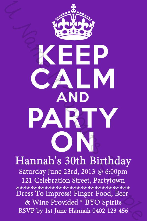 Nice 30th Birthday Invitations Ideas
