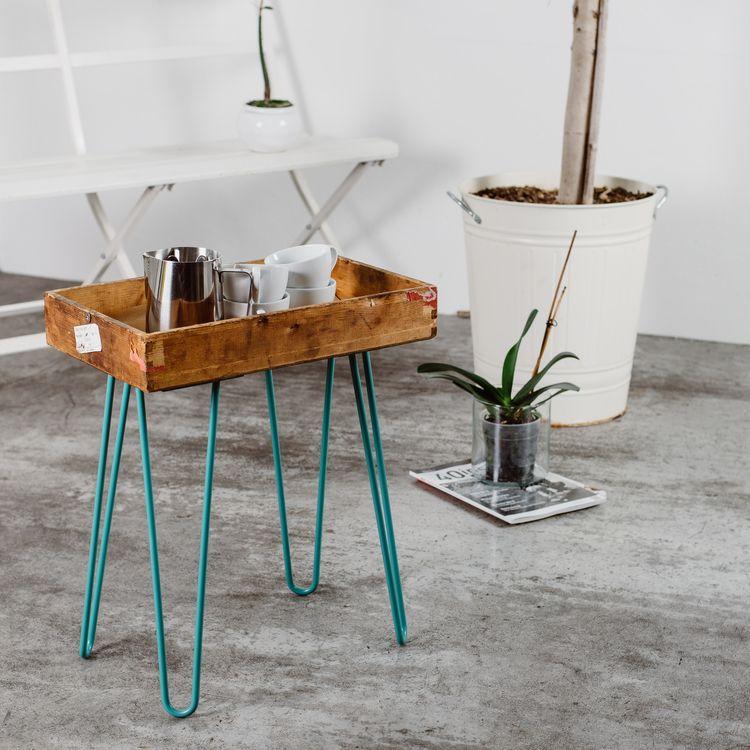 HAIRPIN-tafelpoot Een klassieker onder de tafelpoten, de ...