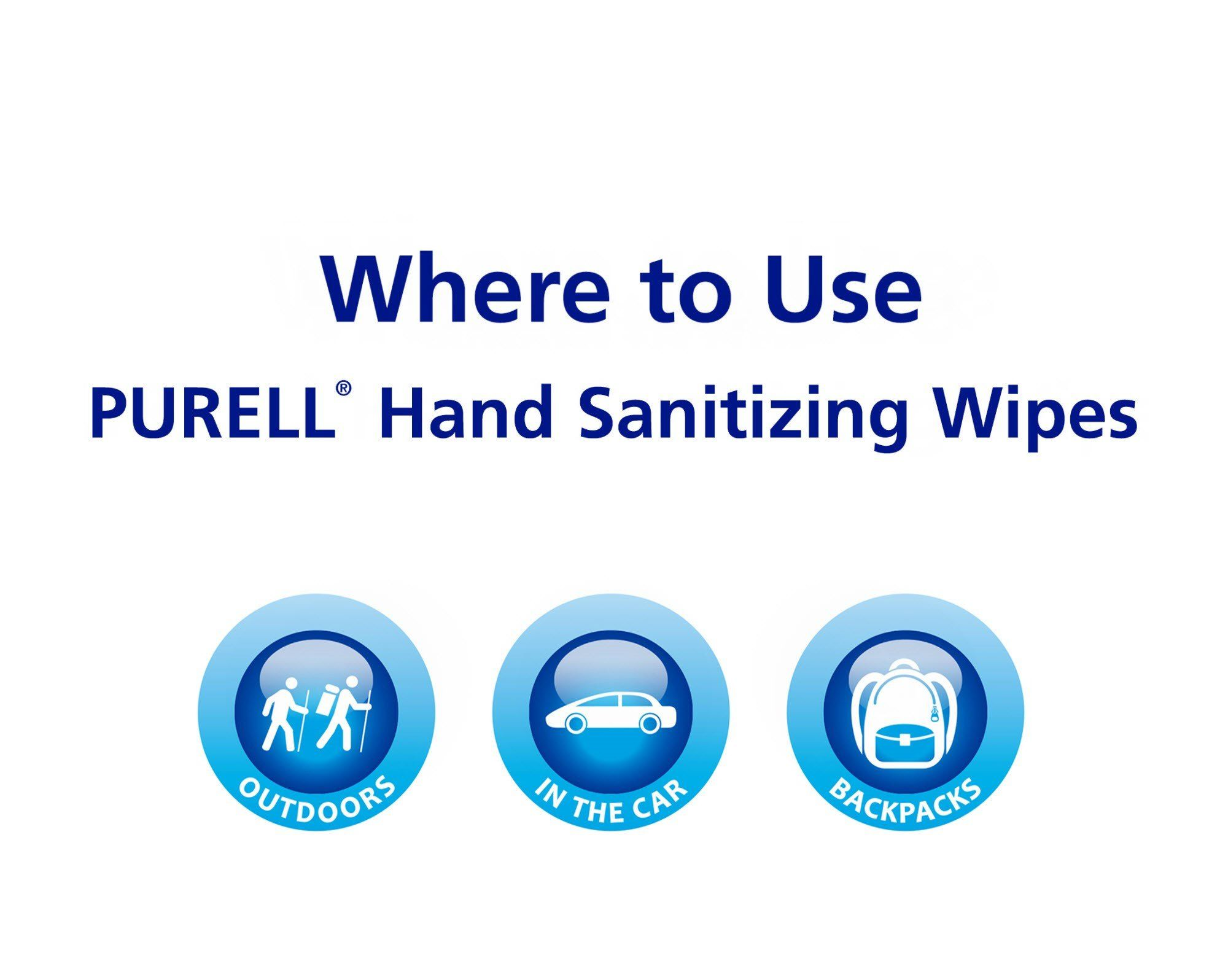 Hospital Bag Purell Hand Sanitizing Alcohol Wipes Portable