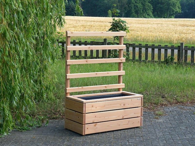 Pflanzkasten Mit Rankgitter Spalier Holz L Wetterfestes Holz