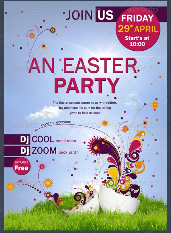 Easter Party  Flyer Template By CoolflyersDeviantartCom On