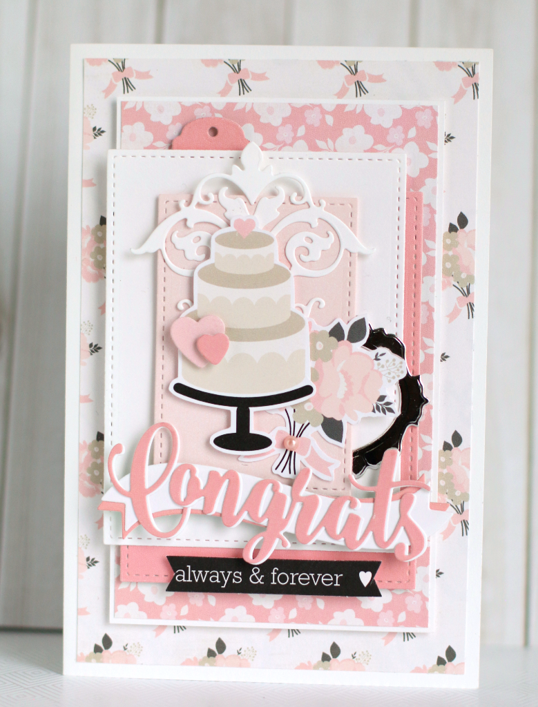 Card Cake Wedding Congratulations Echo Park Wedding Bliss Paper