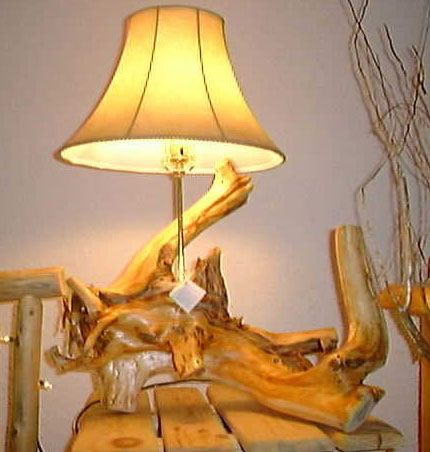 Nice Cedar Root Log Lamp