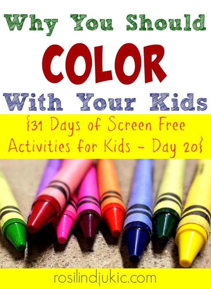 Here are 4 reasons why you should color with your kids!!