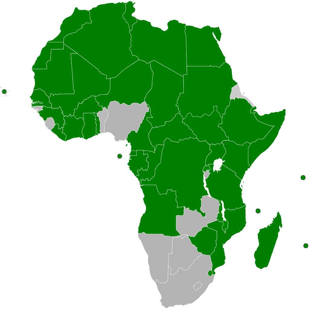 Map of the African Continental Free Trade Area as of March 2018