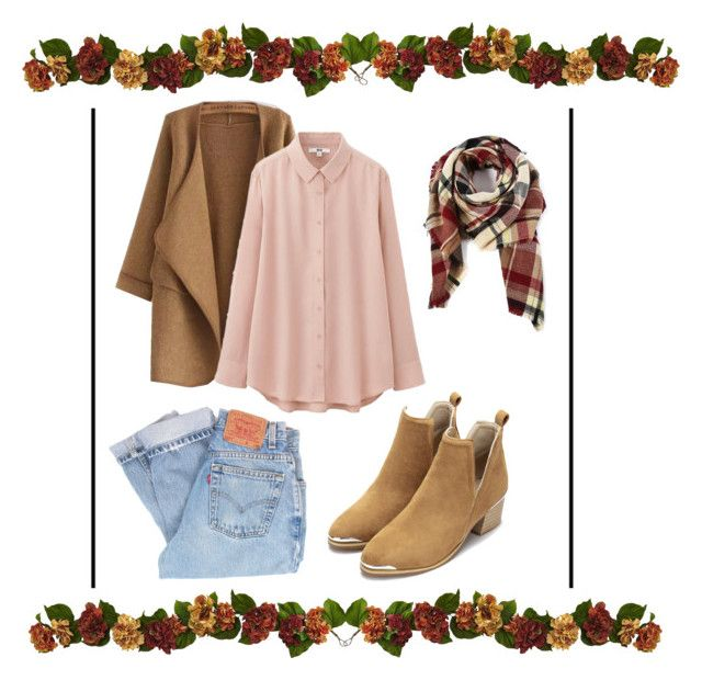 Autumn is coming by fuyumishikato on Polyvore featuring polyvore, fashion, style, Uniqlo, WithChic, Levi's and clothing