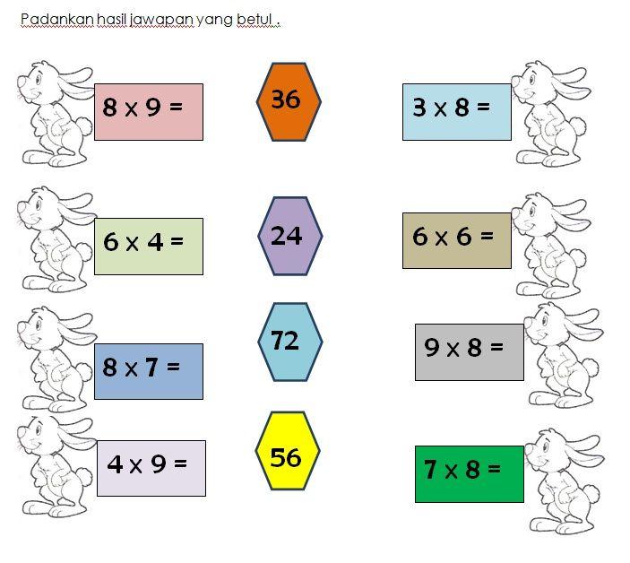 Latihan Darab Matematik Kssr Tahun 3 Math Worksheets Math Worksheets